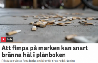 İsveç'te sigara izmaritini sokağa atana 800 kron ceza geliyor