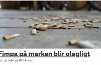 İsveç'te sokağa sigara izmariti ve sakız atmaya para cezası
