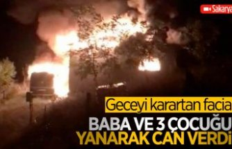 Sakarya'da yangın çıkan evde 4 kişi can verdi