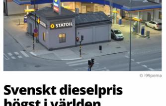 Dünyanın ikinci en pahalı dizel yakıtı İsveç'te satılıyor