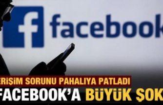 Facebook hisseleri erişim sorunuyla yüzde 5'in üzerinde değer kaybetti