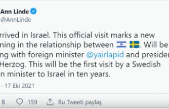 İsveç, 10 yıl aradan sonra ilk kez İsrail'e resmi ziyaret gerçekleştiriyor