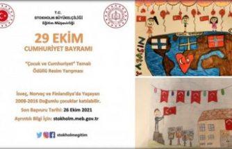 İsveç'te yaşayanlar için Çocuk ve Cumhuriyet Temalı Ödüllü Resim Yarışması Duyurusu