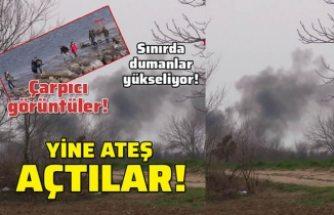 Yunan güvenlik güçleri mültecilere ateş açtı!