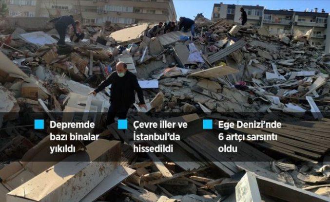 İzmir'deki depremde can kayıpları var! Şuana kadar 70 kişi enkazdan çıkarıldı, enkaz altında hala insanlar var
