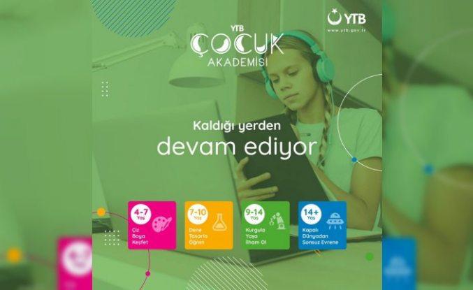 """Yurt dışındaki çocuklara yönelik """"YTB Çocuk Akademisi"""" 2. programı başlıyor"""