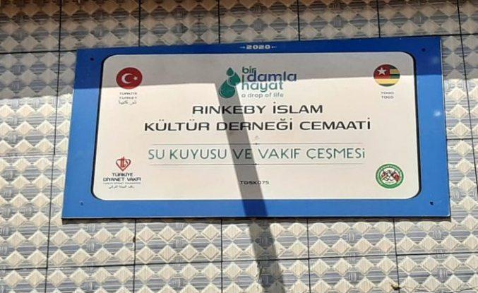 Rinkeby'li hayırseverler Afrika'da su kuyusu ve vakıf çeşmesi açtı