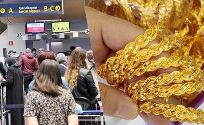 Türkiye'den giden yolcu altınlarla yakalandı