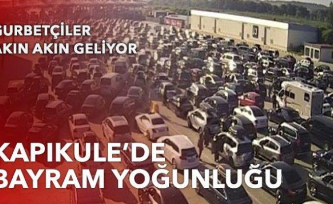 Kapıkule'de bayram yoğunluğu: Gurbetçiler akın akın geliyor