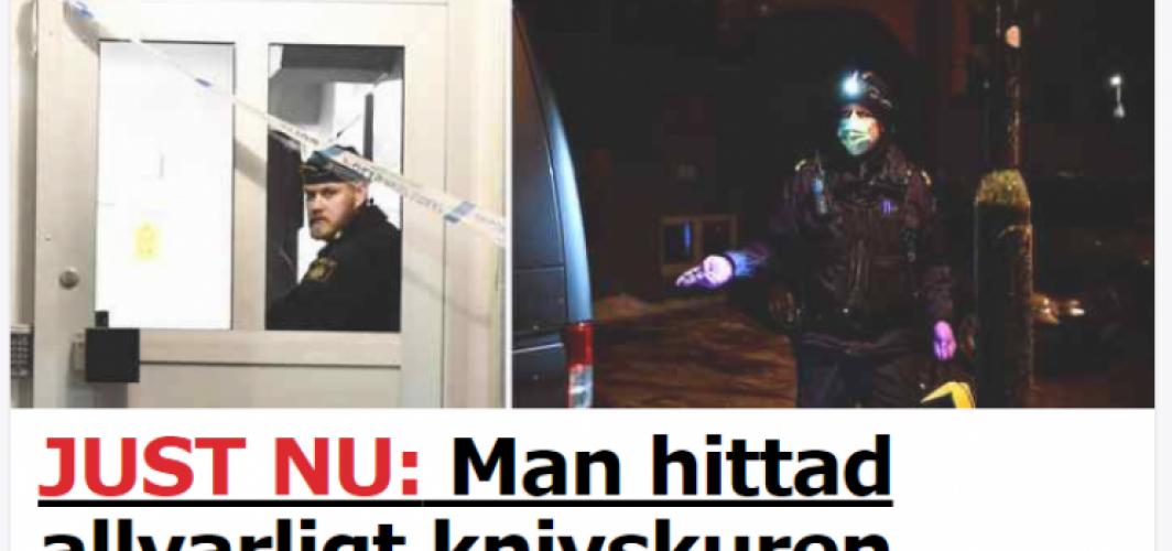 Skärholmen'de bir genç bıçaklandı