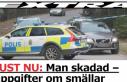 Stockholm'de bir kişi vurulmuş olarak bulundu