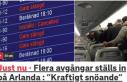 Stockholm'de uçuşlara hava engeli