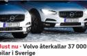Volvo İsveç'te 37 bin aracını geri çağırdı