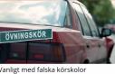 İsveç'te ehliyet okullarının bir çoğu mercek...