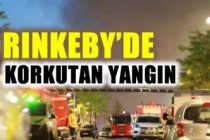 Rinkeby'de feci yangın yürekleri ağza getirdi