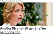 Eşini kaybeden İsveçli Bakan istifa etti
