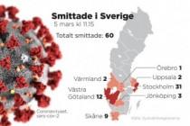 İsveç'te doğrulanan koronavirüs vakası 60 oldu
