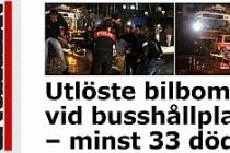 Aftonbladet Ankara'da ölü sayısını 33 olarak yazdı