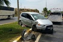 Antalya'da Trafik Kazası: 1İsveçli Yaralı