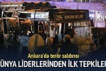 Dünya liderlerinin Ankara'daki terör saldırısı ile ilgili ilk tepkileri