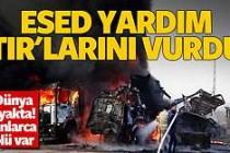 Esed yardım TIR'larını vurdu: 20 ölü
