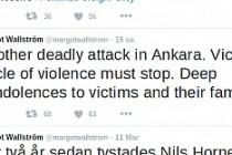 İsveç, Ankara'da yaşanan terör saldırısını kınadı