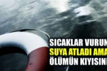 İsveç'te bir kadın sıcaklara aldanıp suya atlayınca!