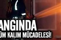 İsveç'te bir kişi yanan evden son anda kurtarıldı