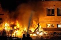 İsveç'te ilginç kaza iki kişiyi hastanelik etti