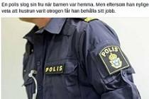 İsveç'te, Karısını döven polis meslekte kaldı