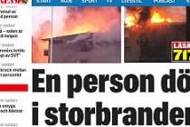 İsveç'te yangın: 1 Ölü