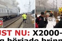 İsveç'te Yolcu Trenin de yangın çıktı