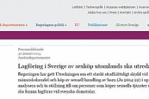 İsveçlilerin  yurtdışında fuhuş yapması yasaklanıyor...