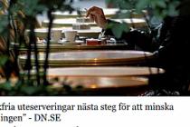 İsveç'te dışarı oturma alanlarında (uteservering) sigara yasaklanıyor