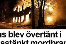 İsveç'te ev kundaklandı 7 kişi Canını zor kurtardı...VİDEO