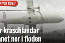 Korkunç uçak kazası kamerada...VİDEO