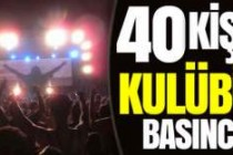 Malmö'de 40 kişi gece kulübünü bastı