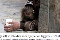 Norveç'te dilencilik yasaklanırken  para verenlerde cezaya çarptırılacak...