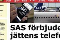 O Telefonun SAS Uçaklarda Kullanımı Yasaklandı