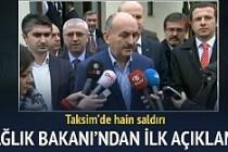 Sağlık Bakanı Mehmet Müezzinoğlu patlamaya ilişkin açıklamalar yaptı