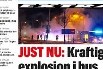 Stockholm'de binada patlama