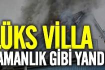 Villa yangını yürekleri ağza getirdi