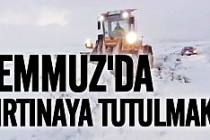 Yaz ortasında İsveç'te kar fırtınasına tutulmak!