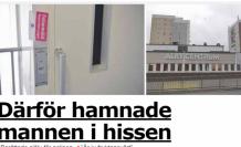 İsveç'te üç gün asansörde mahsur kalan bir kişi son anda ölümden kurtarıldı