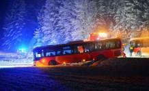 İsveç'te  kar yağışı