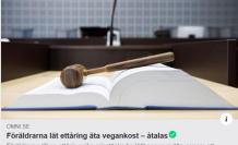 İsveç'te çocuğuna vejetaryen yemeği yediren aileye soruşturma