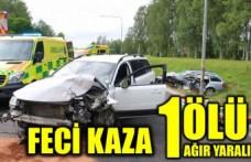 Polis aracının karıştığı kazada bir kişi öldü