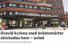 İsveç'te eve gönderilen hamile kadın kalp krizinden öldü