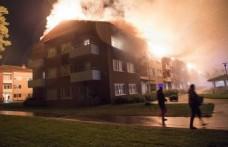 İsveç'te korkutan yangın