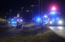 İsveç'te uçak düştü